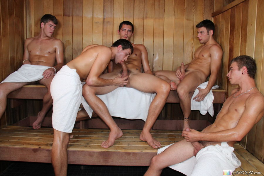 Naked boys sauna #11