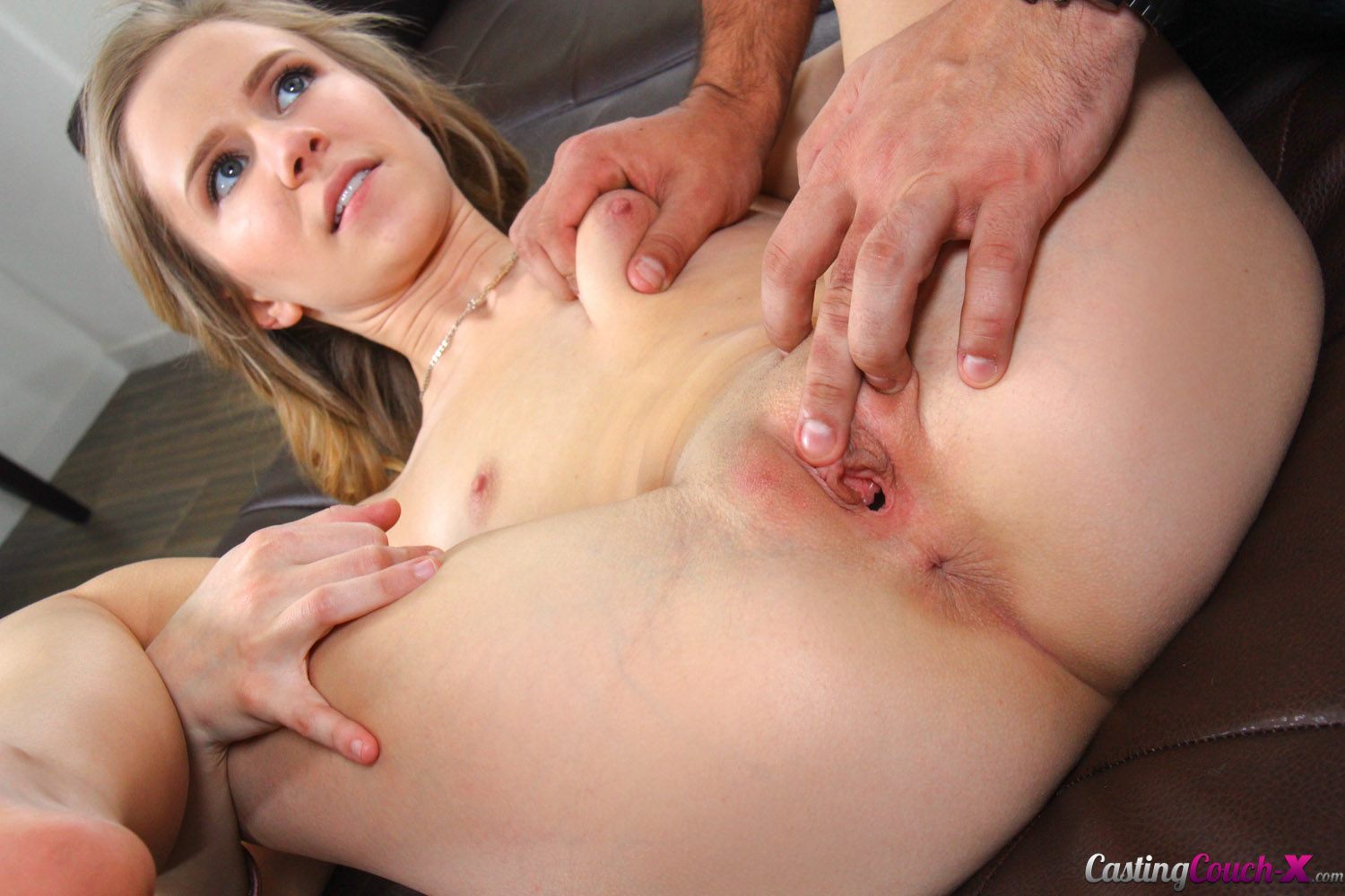 2 bitches getting covered in cum after long group bang 3