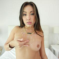 Hot Latina Babe Lorraine Mack Sucks And Fucks Huge Cock - Picture 11