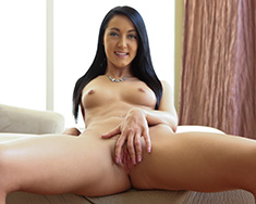 Thin Brunette Girl Sabrina Banks Gets Milk Bath - Picture 4