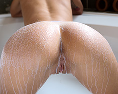 Thin Brunette Girl Sabrina Banks Gets Milk Bath - Picture 7