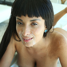 Hot French Chick Anissa Kate Gets A Sexy Rub Down All Over Them Tits - Picture 2