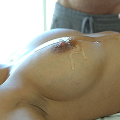 Hot French Chick Anissa Kate Gets A Sexy Rub Down All Over Them Tits - Picture 6