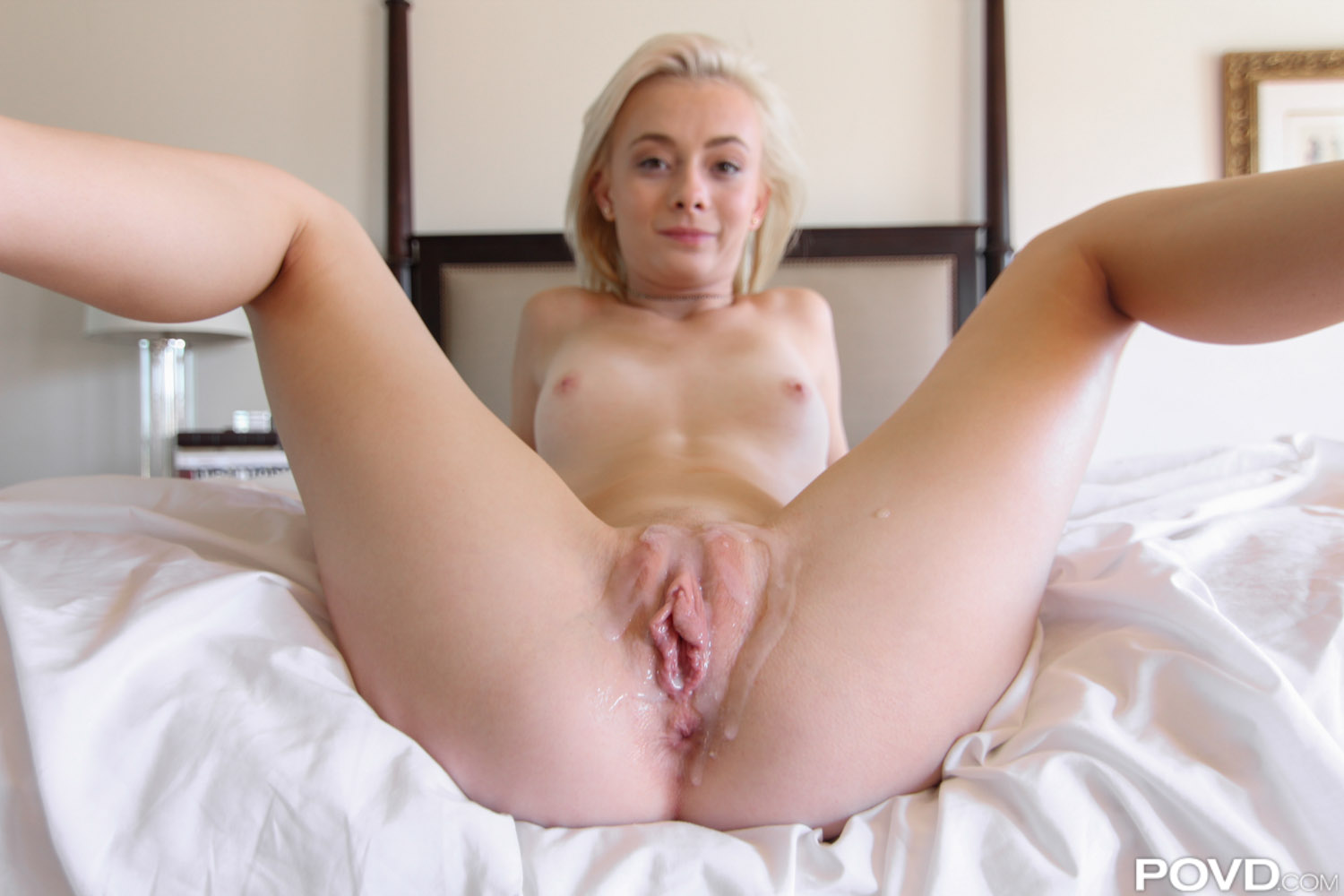 Petite blond amateur chloe foster plays with herself at home 2