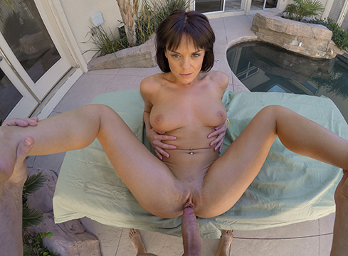 Sexy Teen Rahyndee James Sun Bathes Poolside - Picture 12