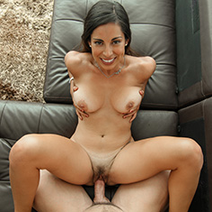 Hot Girl Sofia Rivera Worships Her Friends Big Dick - Picture 2
