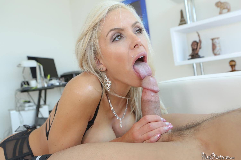 Blonde stepmom spreading for her horny stepson 6