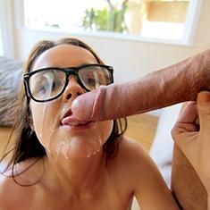 Sexy Tiny Nerd Dillion Harper Loves Fucking Gigantic Cocks - Picture 8