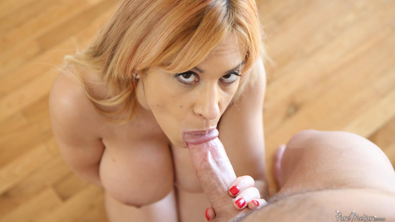 image Blonde milf blow alyssa gets her way with